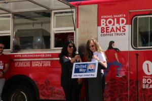 Sonya Ulibarri of Girls Inc. with Teresa Van De Bogart of Women United