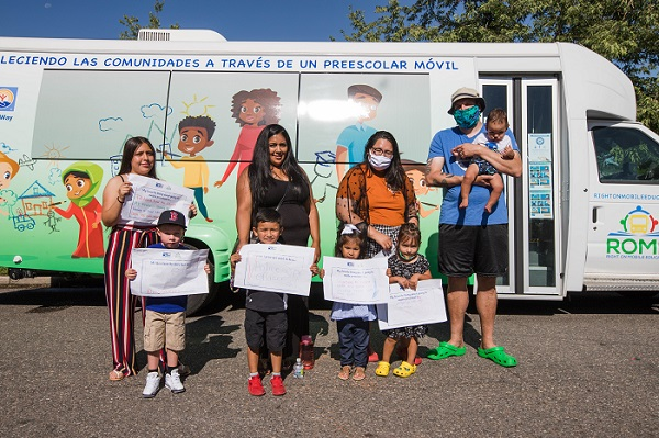 This year, we launched the first ever mobile preschool in the City and County of Denver