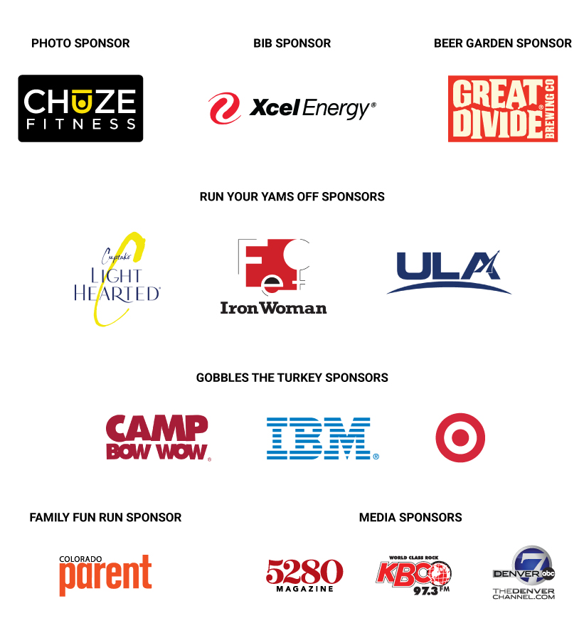 2021 Mile High United Way Turkey Trot Sponsors in Denver, Colorado